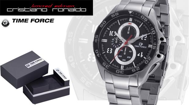 72f54656c4f Relógio Time Force em Aço com Cronógrafo