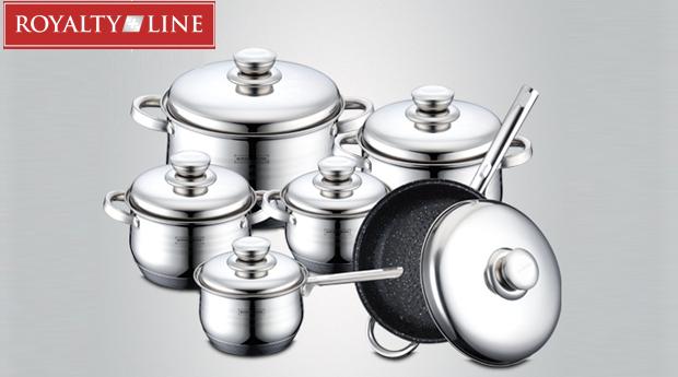 Jogo de Cozinha e 12 peças em Aço Inoxidável da Royalty Line!! Compatível com Todos os Tipos de Fogões!