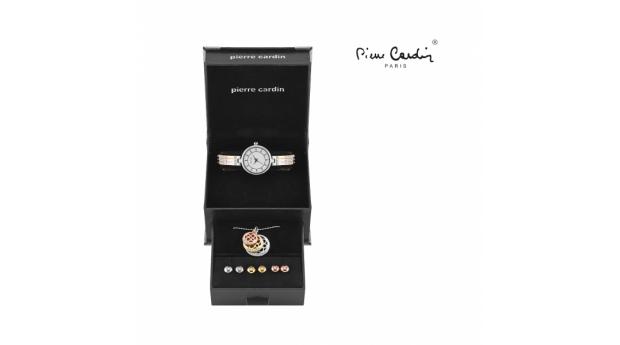 94429296a26 Conjunto Pierre Cardin Versatile Dourado - Rosa Dourado   Prateado - Relógio  - Colar - 6 Brincos