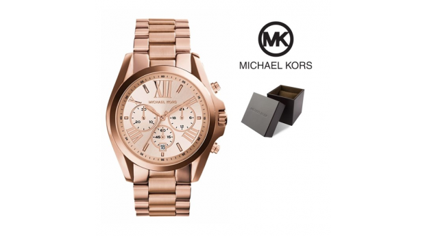 653aaa576a6 Relógio Michael Kors® Bradshaw Chronograph Rose Gold - 10ATM