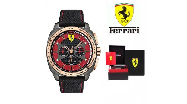 166791e1f87 Especial Black Friday! Relógio Ferrari®Scuderia - Chrono Rose Gold ...