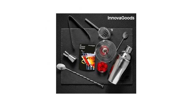 Conjunto de Preparação de Cocktails com Livro de Receitas InnovaGoods (6 Peças)