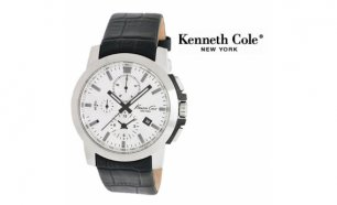 Relógio Kenneth Cole® New York Black & White Com Cronógrafo | 5ATM