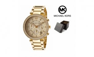 Relógio Michael Kors® Crystal Chronograph Champagne | 5 ATM