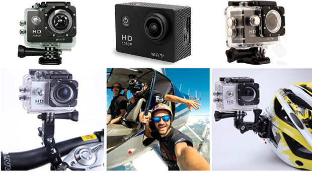 Câmara HD 1080p, 12 Mpx, Wifi e à Prova de Água!
