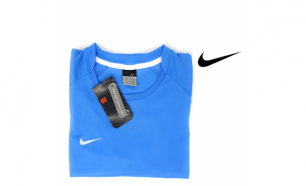Nike® T-Shirt de Treino Womens Light Blue - XL