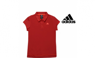Adidas® Polo Galaxy Women's Red | Tecnologia Climalite® - S