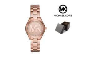 Relógio Michael Kors® Runway Slim Mini ll Rose Gold | 5ATM
