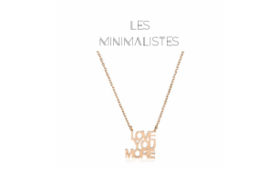 Les Minimalistes® Colar Love You More Rose Gold
