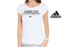 Adidas® T-Shirt Born For Greatness Branca - XS