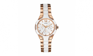 Relógio Guess® White and Gold