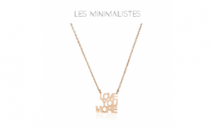 Les Minimalistes Colar Love You More Rose Gold